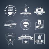 Διανυσματικό σύνολο λογότυπων καφέ, Στοκ φωτογραφίες με δικαίωμα ελεύθερης χρήσης
