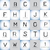 Διανυσματικό σύνολο λογότυπων στοιχείων σχεδίου αλφάβητου και λογότυπων διάτρητων Στοκ Εικόνες