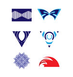 Διανυσματικό σύνολο λογότυπων Στοκ Εικόνα