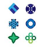 Διανυσματικό σύνολο λογότυπων Στοκ Φωτογραφίες