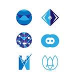 Διανυσματικό σύνολο λογότυπων Στοκ εικόνες με δικαίωμα ελεύθερης χρήσης