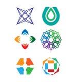 Διανυσματικό σύνολο λογότυπων Στοκ Εικόνες