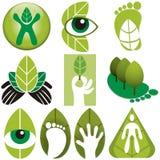 Διανυσματικό σύνολο λογότυπων Eco Στοκ Φωτογραφίες