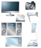 Σύνολο οικιακών ηλεκτρονικών στοιχείων Στοκ φωτογραφία με δικαίωμα ελεύθερης χρήσης