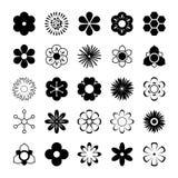 Διανυσματικό σύνολο λουλουδιών Στοκ φωτογραφίες με δικαίωμα ελεύθερης χρήσης
