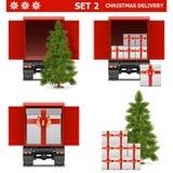 Διανυσματικό σύνολο 2 παράδοσης Χριστουγέννων Στοκ Εικόνες