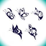Διανυσματικό σύνολο πεταλούδων στοκ φωτογραφία με δικαίωμα ελεύθερης χρήσης