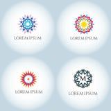 Διανυσματικό σύνολο προτύπων λογότυπων αστεριών Στοκ εικόνες με δικαίωμα ελεύθερης χρήσης