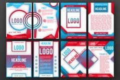 Διανυσματικό σύνολο προτύπων σχεδιαγράμματος σχεδίου φυλλάδιων Στοκ φωτογραφία με δικαίωμα ελεύθερης χρήσης