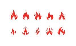 Διανυσματικό σύνολο πυρκαγιάς Στοκ Εικόνες