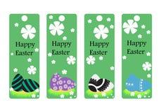 Διανυσματικό σύνολο σελιδοδείκτη Πάσχας Πάσχα ευτυχές συλλογή αυγών Στοκ Εικόνες