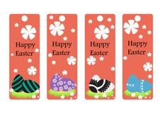 Διανυσματικό σύνολο σελιδοδείκτη Πάσχας Πάσχα ευτυχές συλλογή αυγών Στοκ εικόνα με δικαίωμα ελεύθερης χρήσης