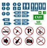 Διανυσματικό σύνολο σημαδιών toilette απεικόνισης Στοκ Φωτογραφίες