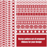 Διανυσματικό σύνολο σχεδίων κορδελλών/λουρίδων διακοσμήσεων για το σχέδιό σας Στοκ Φωτογραφίες