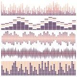 Διανυσματικό σύνολο υγιών κυμάτων Ακουστικός εξισωτής Υγιή & ακουστικά κύματα απεικόνιση αποθεμάτων