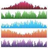 Διανυσματικό σύνολο υγιών κυμάτων Ακουστικός εξισωτής απεικόνιση αποθεμάτων
