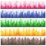 Διανυσματικό σύνολο υγιών κυμάτων Ακουστικός εξισωτής ελεύθερη απεικόνιση δικαιώματος