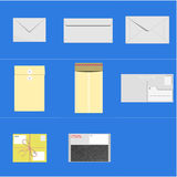 Διανυσματικό σύνολο φακέλων ταχυδρομείου Στοκ Εικόνα