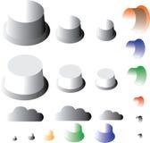 Διανυσματικό σύνολο φαντασίας κουμπιών για την αγάπη Στοκ Φωτογραφία