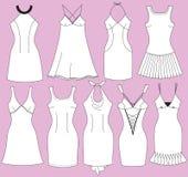 Φορέματα μόδας για τη γυναίκα Στοκ Φωτογραφία