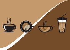 Διανυσματικό σύνολο φλυτζανιών καφέ Στοκ Φωτογραφίες