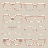 Διανυσματικό σύνολο χαριτωμένων γυαλιών ματιών ελεύθερη απεικόνιση δικαιώματος