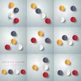 Διανυσματικό σύνολο infographics βελών κύκλων Πρότυπο για το διάγραμμα, gra Στοκ Φωτογραφία