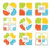 Διανυσματικό σύνολο infographics λωρίδων βελών κύκλων Πρότυπο για το διάγραμμα κύκλων, τη γραφική παράσταση, την παρουσίαση και τ Στοκ Φωτογραφίες