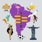 Διανυσματικό ταξίδι της Νότιας Αμερικής Στοκ εικόνα με δικαίωμα ελεύθερης χρήσης
