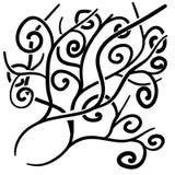 Διανυσματικό τεράστιο υπόβαθρο 33 doodles corve Στοκ φωτογραφίες με δικαίωμα ελεύθερης χρήσης