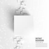 Διανυσματικό τετράγωνο Αφηρημένο μπλε καρτών υποβάθρου Στοκ Εικόνες