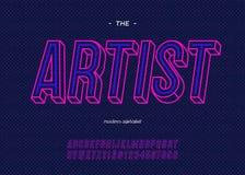 Διανυσματικό τολμηρό νέου καλλιτεχνών ύφος χρώματος τυπογραφίας πηγών καθιερώνον τη μόδα διανυσματική απεικόνιση