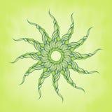 Διανυσματικό τρίχα ή σχοινί μπουκλών υποβάθρου πράσινο μακρύ Στοκ φωτογραφία με δικαίωμα ελεύθερης χρήσης