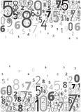 Διανυσματικό υπόβαθρο από τους αριθμούς απεικόνιση αποθεμάτων