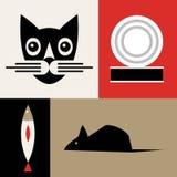 Διανυσματικό υπόβαθρο γατών διανυσματική απεικόνιση