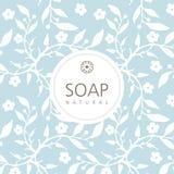 Διανυσματικό υπόβαθρο για το φυσικό χειροποίητο σαπούνι, διακοσμητικό έγγραφο ελεύθερη απεικόνιση δικαιώματος