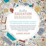 Διανυσματικό υπόβαθρο εκπαίδευσης κινούμενων σχεδίων Στοκ εικόνες με δικαίωμα ελεύθερης χρήσης