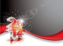 Διανυσματικό υπόβαθρο εορτασμού καλής χρονιάς 2014 ζωηρόχρωμο απεικόνιση αποθεμάτων