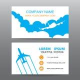 Διανυσματικό υπόβαθρο επαγγελματικών καρτών, επιχειρήσεις γύρου οδηγών ελεύθερη απεικόνιση δικαιώματος