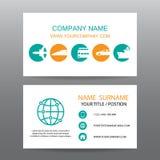 Διανυσματικό υπόβαθρο επαγγελματικών καρτών, επιχειρήσεις γύρου απεικόνιση αποθεμάτων