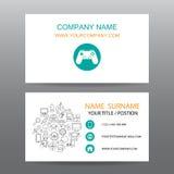 Διανυσματικό υπόβαθρο επαγγελματικών καρτών, gamer διανυσματική απεικόνιση