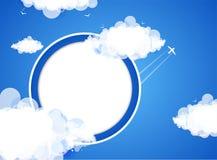 Διανυσματικό υπόβαθρο θέματος σύννεφων διάνυσμα ελεύθερη απεικόνιση δικαιώματος