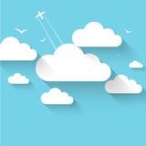 Διανυσματικό υπόβαθρο θέματος σύννεφων ελεύθερη απεικόνιση δικαιώματος