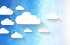 Διανυσματικό υπόβαθρο θέματος σύννεφων διανυσματική απεικόνιση