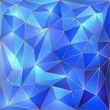 Διανυσματικό υπόβαθρο δικτυωτού πλέγματος κρυστάλλου μπλε και χρυσό Στοκ εικόνα με δικαίωμα ελεύθερης χρήσης