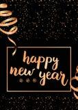 Διανυσματικό υπόβαθρο καλής χρονιάς του 2018 με τη χρυσή κορδέλλα Στοκ φωτογραφία με δικαίωμα ελεύθερης χρήσης