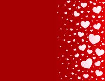 Διανυσματικό υπόβαθρο καρδιών καρτών βαλεντίνων απεικόνιση αποθεμάτων