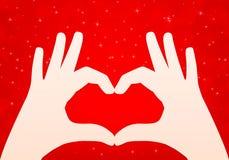 Διανυσματικό υπόβαθρο καρδιών χεριών Στοκ Εικόνες