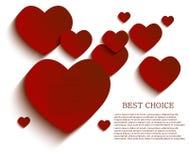 Διανυσματικό υπόβαθρο καρδιών. Eps10 Στοκ εικόνες με δικαίωμα ελεύθερης χρήσης