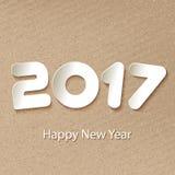 Διανυσματικό υπόβαθρο καλής χρονιάς 2017 με τα μοσχεύματα εγγράφου Στοκ Φωτογραφίες